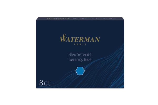 WATERMAN Tintenpatronen Standard S0110860 blau 8...