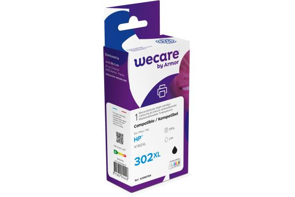 WECARE Tinte 302XL rebuilt schwarz F6U68AEWE zu HP...
