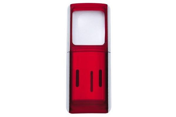 WEDO Rechtecklupe mit LED-Licht 2717502 rot Blister