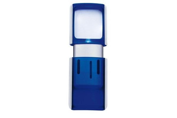 WEDO Rechtecklupe mit LED-Licht 2717503 blau Blister