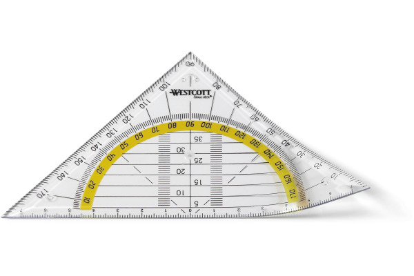 WESTCOTT Geodreieck 14cm E10132 BP