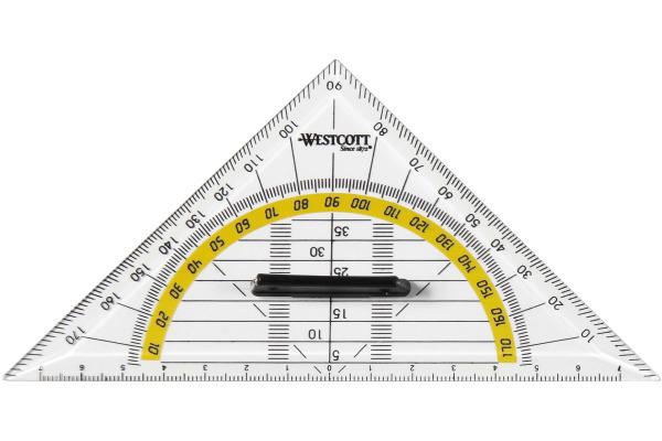 WESTCOTT Geodreieck 14cm E10133 BP abnehmbarer Griff