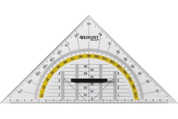 WESTCOTT Geodreieck 22cm E10134 BP
