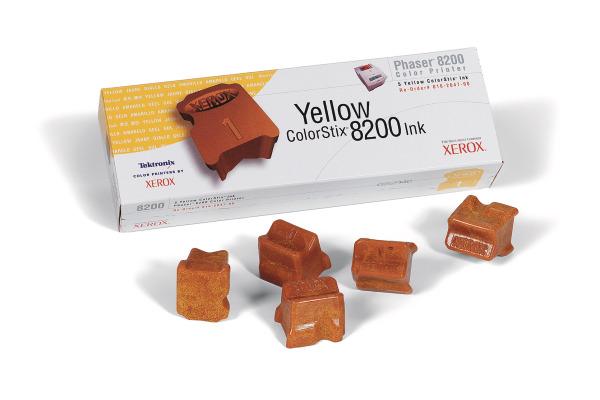 XEROX Color Stix yellow 016-2047 Phaser 8200 5 Stück
