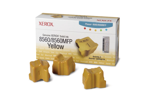 XEROX Color Stix yellow 108R00725 Phaser 8560 3 Stück