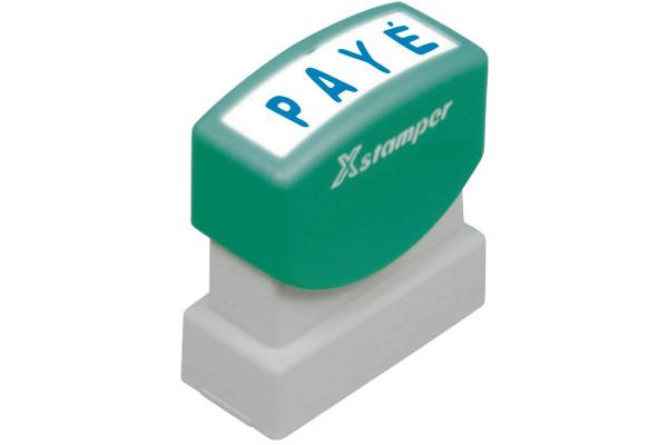 XSTAMPER Stempel Paye F102-B blau