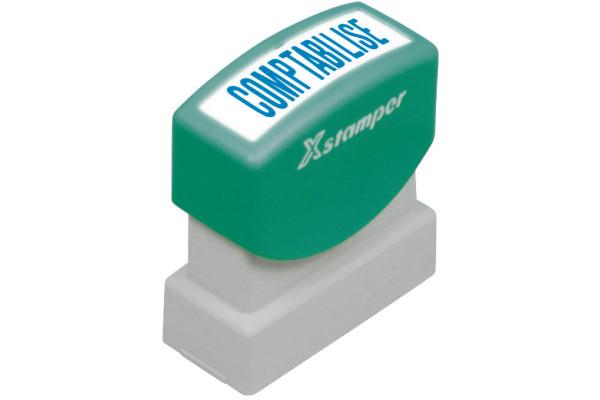 XSTAMPER Stempel Comptabilisé F129-B blau F