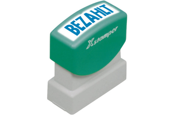 XSTAMPER Stempel Bezahlt GE 10-B blau