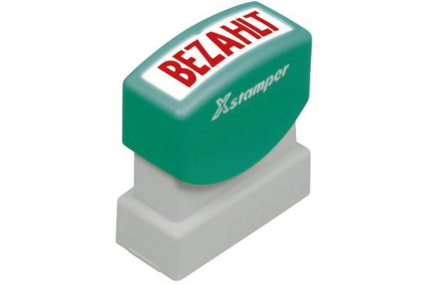 XSTAMPER Stempel Bezahlt GE 10-R rot