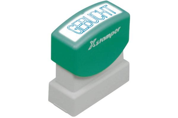 XSTAMPER Stempel Gebucht GE 11-B blau