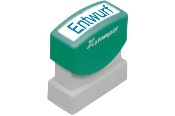 XSTAMPER Stempel Entwurf GE 17B blau