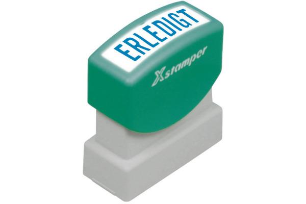 XSTAMPER Stempel Erledigt GE 18-B blau