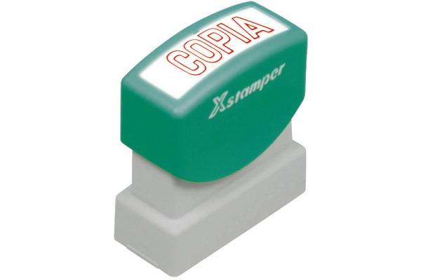 XSTAMPER Stempel Copia S 2-R rot Italienisch