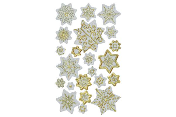 Z-DESIGN Sticker Weihnachten Sterne 52761 weiss 3...