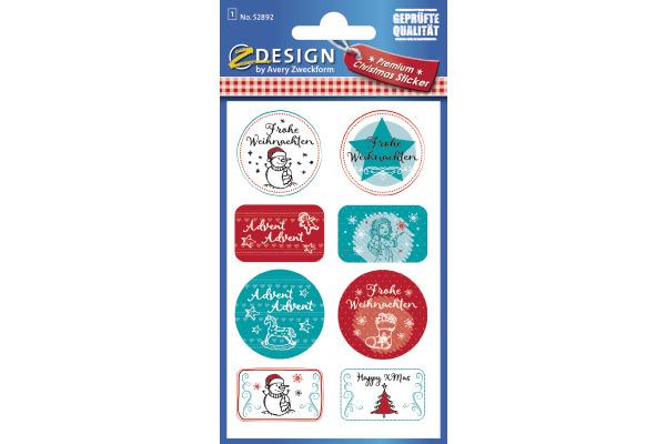 Z-DESIGN Sticker Weihnachten 52892Z Frohe Weihnachten 1...