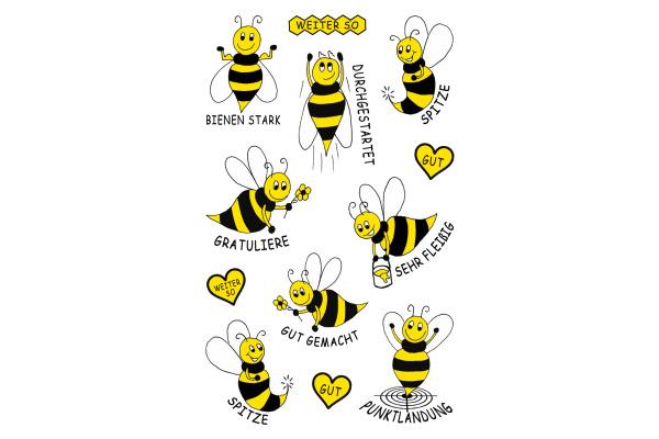 Z-DESIGN Sticker KID Biene 8.4x16cm 53132Z schwarz/gelb 2 Bogen