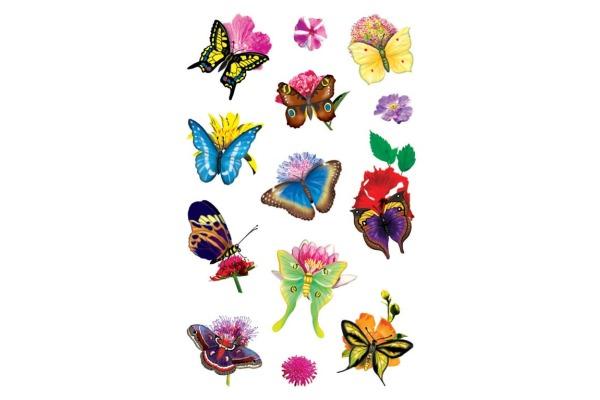 Z-DESIGN Sticker Creative 54322 Schmetterlinge/Blumen 3...