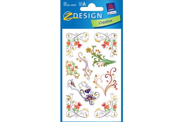 Z-DESIGN Sticker Creative 54457 Ornamente 3 Stück