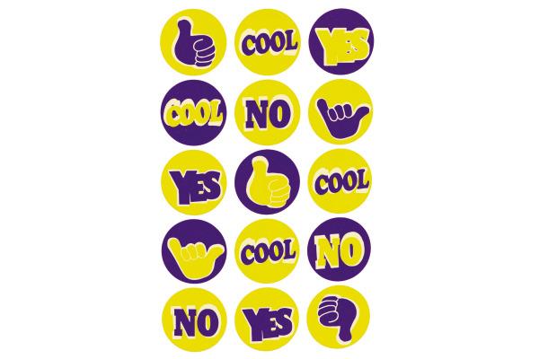 Z-DESIGN Sticker CRE Neon Text 8.4x16cm 55596Z gelb/blau 2 Bogen