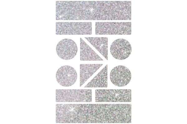 Z-DESIGN Sticker Formen HOM 8.4x16cm 59391Z grau, refl. 1 Bogen