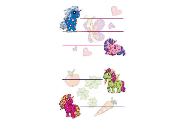 Z-DESIGN Sticker Einhorn 8.4x16cm 59598Z pink 2 Bogen