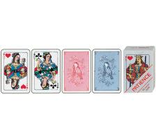 AGMÜLLER Patience 43x66mm 106501223 blau 55 Karten