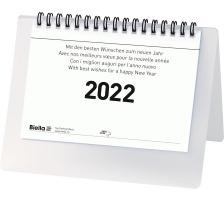 BIELLA Tischkalender Desktop Basic 0887061.000022 Wire-O 17,7x13,5cm, 2022