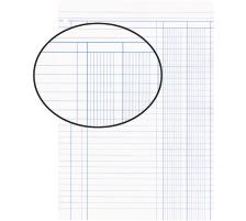 BIELLA Einlageblätter A4 450449.00 weiss,Lineatur 9,4-Loch 100Bl.