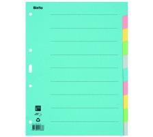 BIELLA Register Karton farbig A4 461410.00 10-teilig, blanko