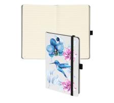 BIELLA Notizbuch Kompagnon Bird 584531.7 liniert, weiss, 192 Seiten