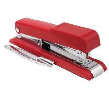 BOSTITCH Bürohefter B8GEN B8RNGN rot für 30 Blatt/3mm Basiert auf der bekannten Qualität des B8 Klassikers und trumpft mit vereinfachtem Lademechanismus , Gummifüssen , seitenverstellbarer Klammerentferner , 30 Blatt Heftkapazit&a