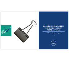 BÜROLINE Foldback-Klammer 25mm 112100 schwarz