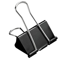 BÜROLINE Foldback-Klammer 32mm 112101 schwarz