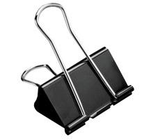 BÜROLINE Foldback-Klammer 41mm 112102 schwarz Vielseitig einsetzbar , abklappbare und abnehmbare Bügel , schwarz/verchromt., 41 mm breit, Klemmweite 19 mm, Dispenser Nein, Grösse (Länge) 41, Anzahl (Stück) 1, Material Metall,