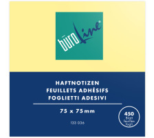 BÜROLINE Notes Cube 75x75mm 133036 gelb 450 Blatt