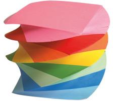 BÜROLINE Zettelbox Papier 196626 farbig 9x9x9cm 900 Blatt