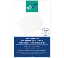 BÜROLINE Laminierfolie 54x86mm 351410 125my, glanz 100 Stück Laminierfolien für alle gängigen Geräte geeignet , glänzend., Dicke  125 Micron, Geeignet für  Kreditkarten, Grösse mm  54 x 86, Zubehör Ja, Abmessungen 54 x 86 mm, Stärke 125my, Für Format
