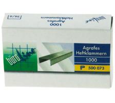 BÜROLINE Heftklammern 26/6mm 500073 1000 Stück