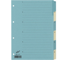 BÜROLINE Register Karton blau/beige A4 663400 1-6