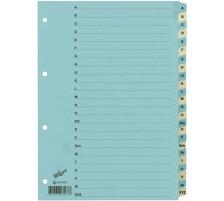 BÜROLINE Register Karton blau/beige A4 663408 A-Z
