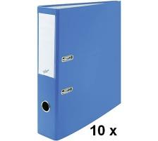 BÜROLINE Ordner 7cm 670080 blau, 10 Stück A4