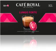 CAFEROYAL Office Pads 2001375 Lungo Forte 50 Stk. Die Café Royal Office Pads schützen das darin befindliche Kaffeepulver und dessen Aromen , die Aluminium-Verbundfolien-Pads sind versiegelt und halten das darin befindliche Kaffeepulver frisch und lan