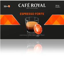 CAFEROYAL Office Pads 2001376 Espresso Forte 50 Stk. Die Café Royal Office Pads schützen das darin befindliche Kaffeepulver und dessen Aromen , die Aluminium-Verbundfolien-Pads sind versiegelt und halten das darin befindliche Kaffeepulver frisch und