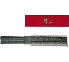 CARAN D'A Minen Graphite B 6705.351 12 Stück Polymer-Minen mit genau abgestuften Härten , 6 cm lang., 0,5 mm, B, Zubehör Ja, Härtegrad B, Set Nein, Display Nein, Zubehör Typ Feinminen, Minentyp 0.5mm, Mit Radiergummi Nei