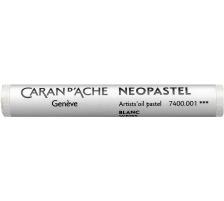 CARAN D'A Wachsmalstift Neopastel 7400.001 weiss Typ: Künstlerisches Ölpastell von erstklassiger Qualität, Anzahl (Stück) 1, Typ Neopastel, Farbe(Filter) weiss