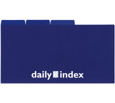DAILY Organisationsmappen 21x13cm 256567 blau 3 Stück Ablagemappe mit Unterteilungen , Format 21 x 13 cm , für kleinformatigen Belege wie Flugtickets, Kinokarten, Spesenzettel, Einkaufslisten, Notizen usw. , das kompakte Mäppchen finde