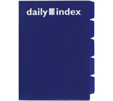 DAILY Organisationsmappen Daily A4 256568 blau 3 Stück Durchdachte, neuartige Ablagemappe , Format A4 , mit praktischen Unterteilungen , Tabs mit OHP-Stiften individuell beschriftbar., Unterteilung 5-teilig, Farbe blau, Grammatur 0,14 mmg/m2, An