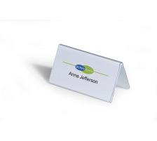 DURABLE Tischnamensschild Dachform 8051/19 transp. 52/104x100mm 25 Stk.