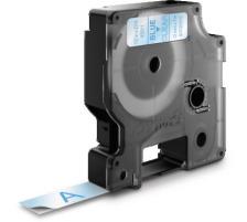 DYMO Schriftband D1 blau/transp. S0720510 12mm/7m Für DYMO-Geräte: 1000 Plus, 3500, 4500, 5500 und Pocket / LabelPoint 150, 200, 250, 300 und 350 / LabelWriter Duo / LabelManager 500TS, PnP, PnP Wireless, 280, 420P, 360D, 260P, 210D, 160, 3