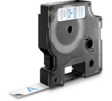 DYMO Schriftband D1 blau/weiss S0720540 12mm/7m Für DYMO-Geräte: 1000 Plus, 3500, 4500, 5500 und Pocket / LabelPoint 150, 200, 250, 300 und 350 / LabelWriter Duo / LabelManager 500TS, PnP, PnP Wireless, 280, 420P, 360D, 260P, 210D, 160, 350